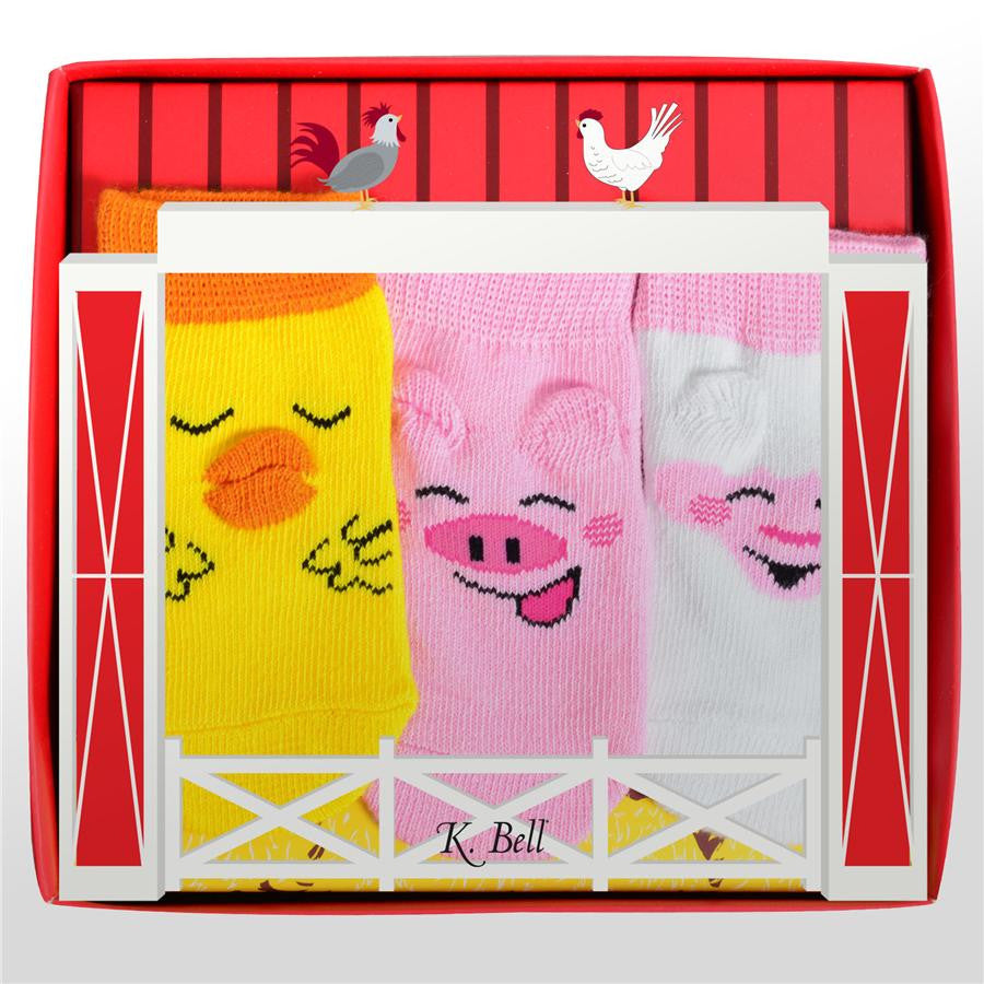 Barnyard Buddy Trio Baby Socks