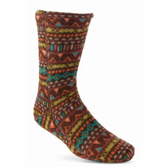 Micro-Fleece Socks Batik Brown