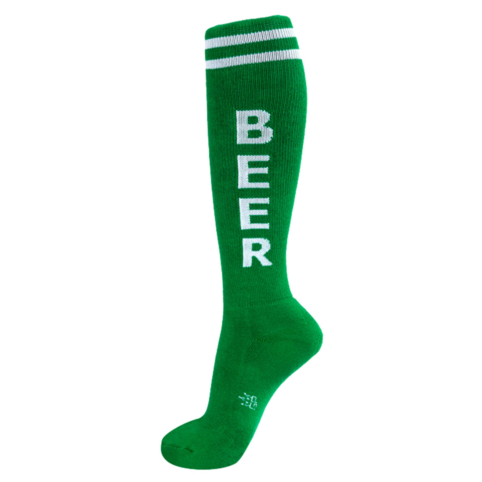 Green - Beer Knee Highs Socks