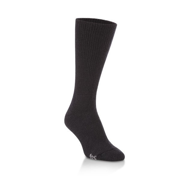 black sensitive comfort fit crew socks