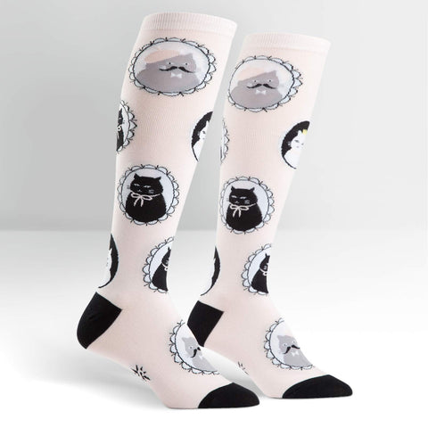 Cameo Cat Knee Highs