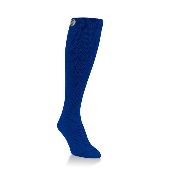 royal blue fancy knee high socks