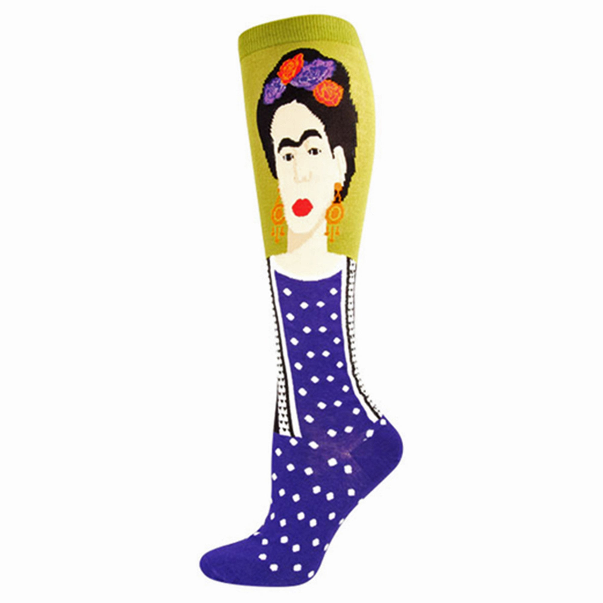 Frida Kahlo Knee Highs