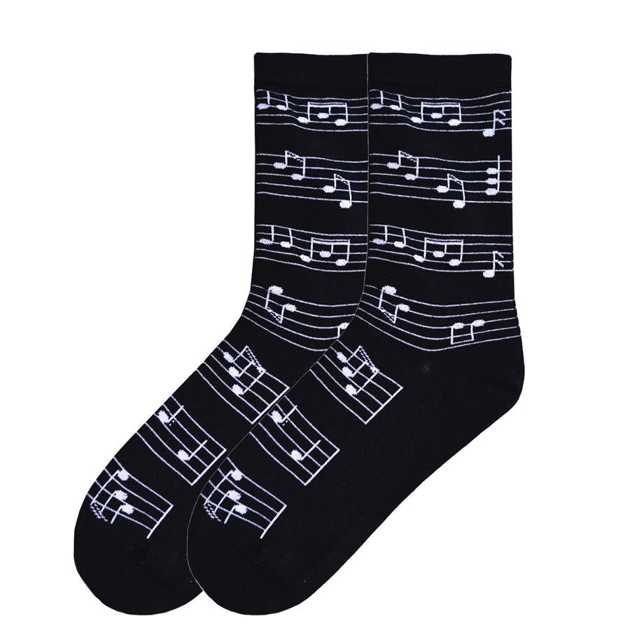 making music crew socks black