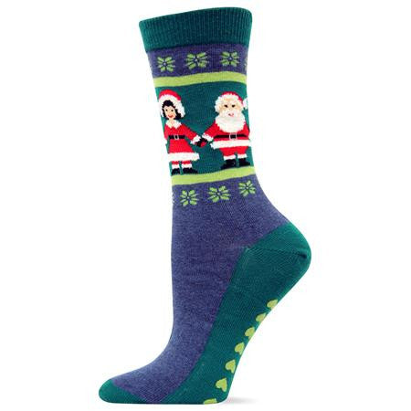 Mr. & Mrs. Claus Slipper Socks