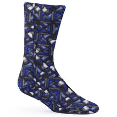 Micro-Fleece Socks Navy Woodblock