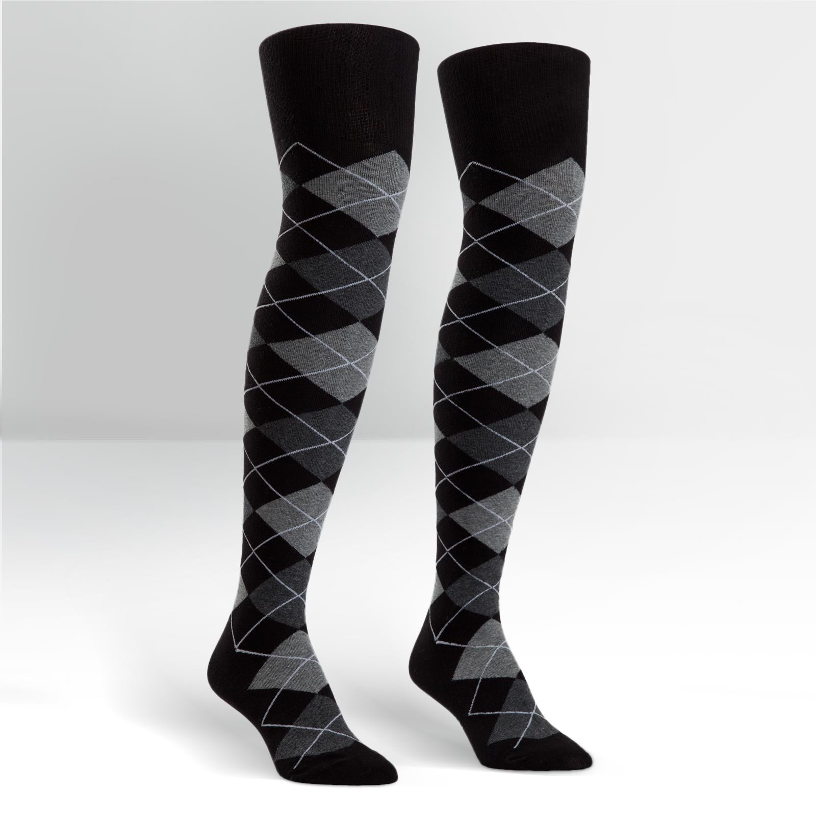 Argyle Thigh Highs