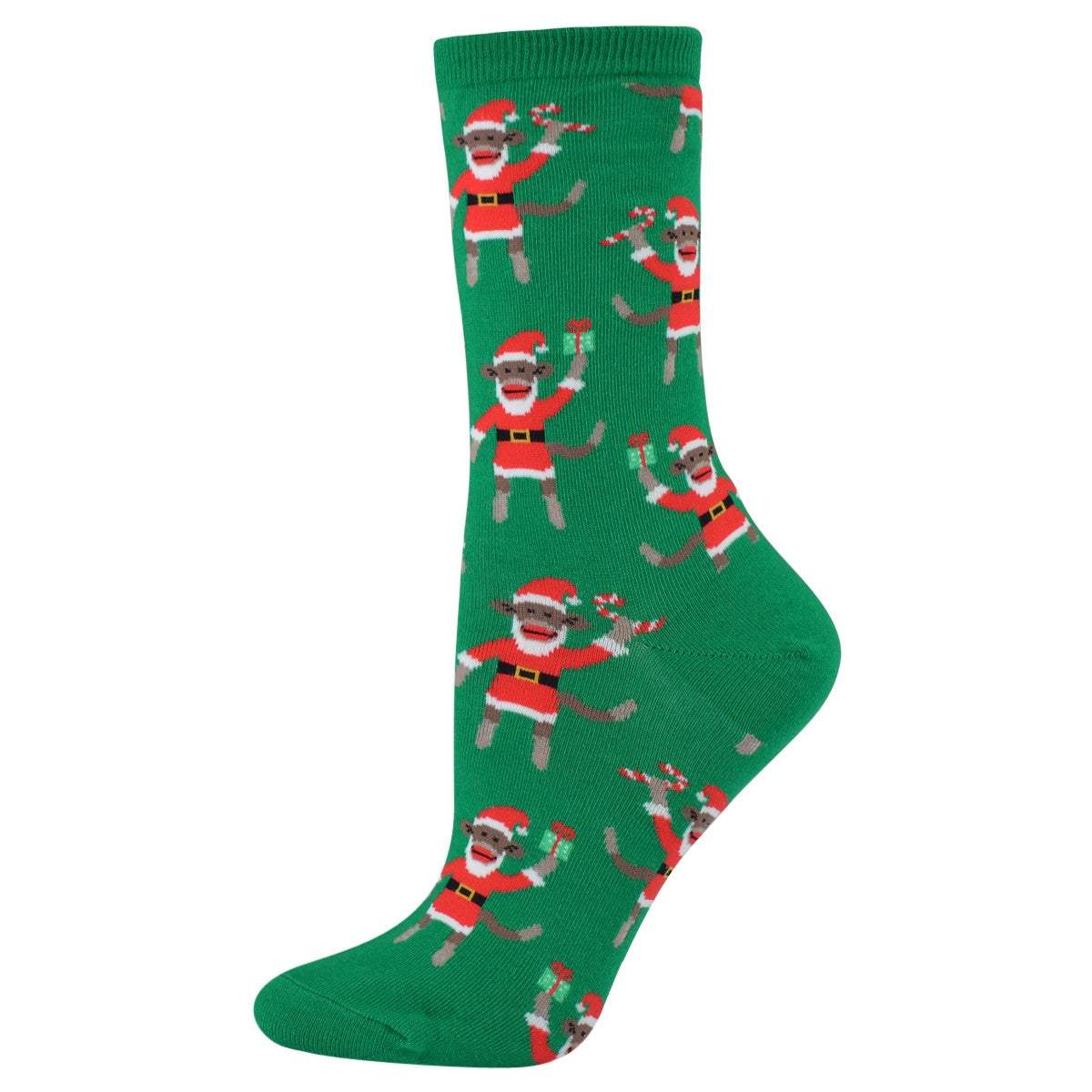 santa monkey socks
