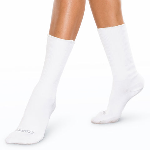 White Seamless Crew Socks