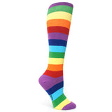 Rainbow Striped Knee Highs
