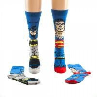 Batman and Superman Socks