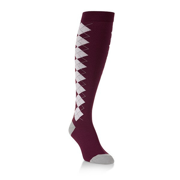 Game Knit Argyle Knee Highs