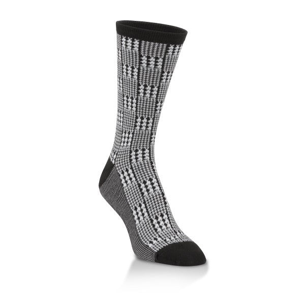 houndstooth pattern crew sock