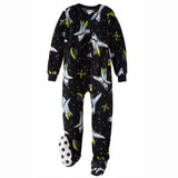 komar kids outer space footed onesie