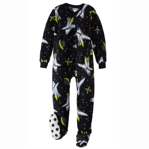 Kids' Spaced Out Footed Pajamas