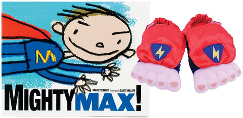 Little Mighty Max Book & Slipper Set