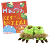 Little Monster Book & Slipper Set