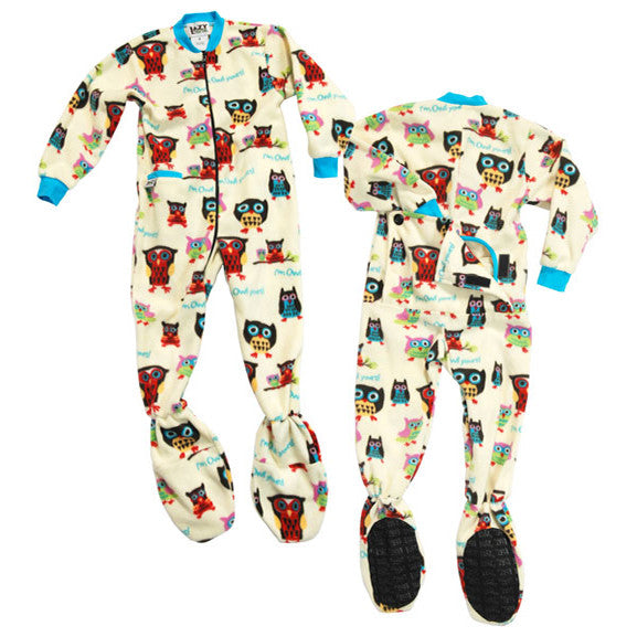 Owl Yours Kids Footed Pajamas
