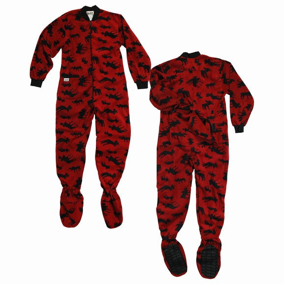 Classic Moose Kids Footed Pajamas