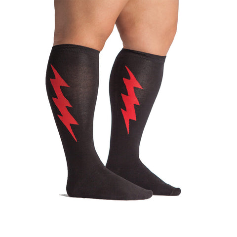 Red Bolt STRETCH IT Knee Highs