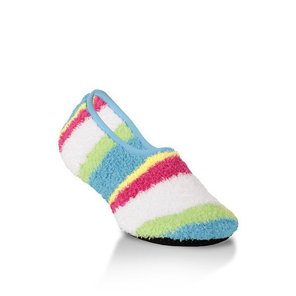 Happy Stripe Cozy Slippers