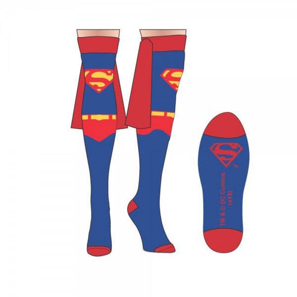 Superman Thigh Highs with Capes