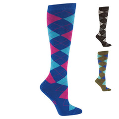 Argyle Knee Highs