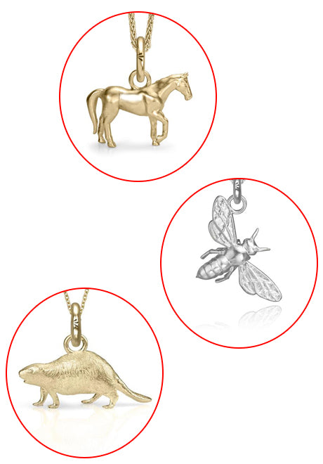 Animal Stone Jewellery Pendant Necklace at Red Scarf Equestrian