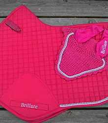 High Whither Saddle Pad Horse Fly Veils Swarovski Crystals Fuschia Buy Online Red Scarf Equestrian Canada