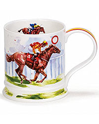 Dunoon Mug Race Day Racehorses made in the UK Red Scarf Equestrian Lifestyle