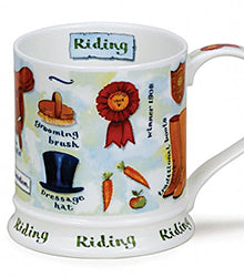 Dunoon Mug Horse Riding Made in the UK Buy Online at Red Scarf Equestrian Lifestyle