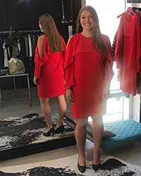 Erban Corner Womens Fashion Italian Red Dress European Clothing Kitchener Waterloo