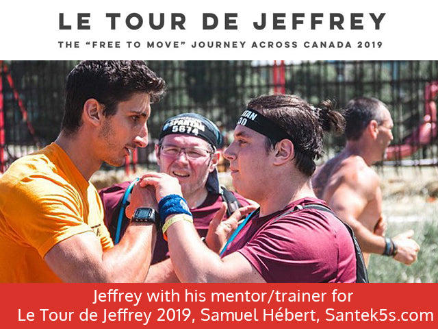 Jeffrey Beausoleil training with Samuel Hebert - Le Tour de Jeffrey Free to Move Journey