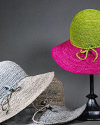 Raffia Summer Hats for Women on Sale Red Scarf Equestrian