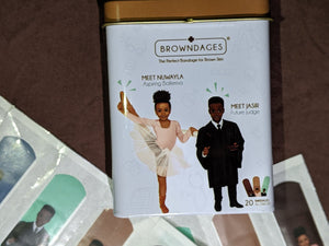 Browndage Unisex [Aspiring Ballerina and Judge] (Carton of 20 Skin Coloured Bandages)