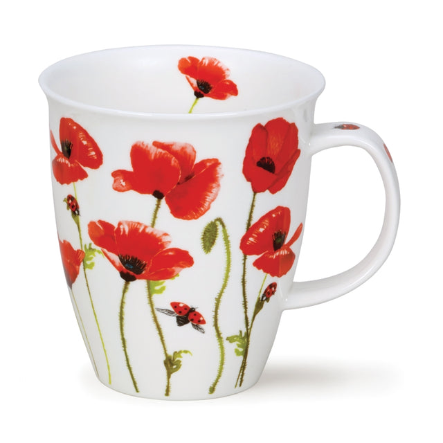 Dunoon Mugs - Nevis Somerset Poppies n' Ladybugs