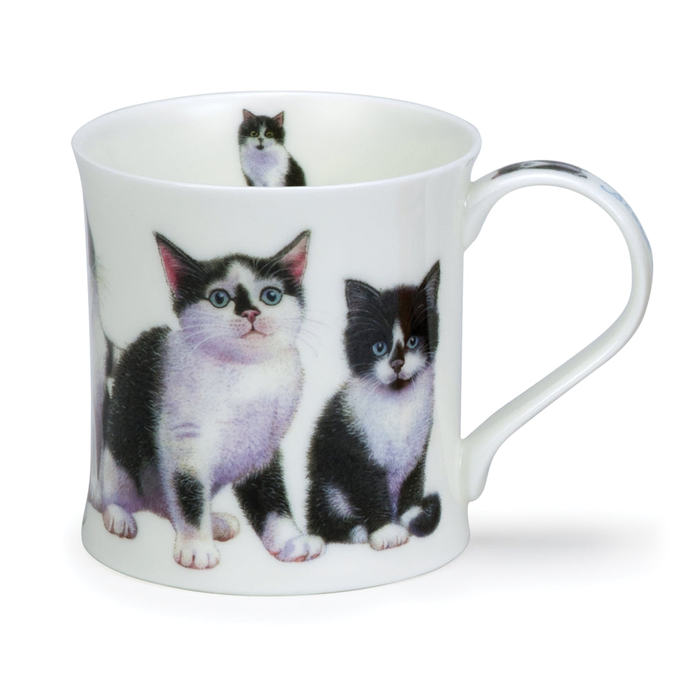 Dunoon Mugs - Wessex Kittens Black & White