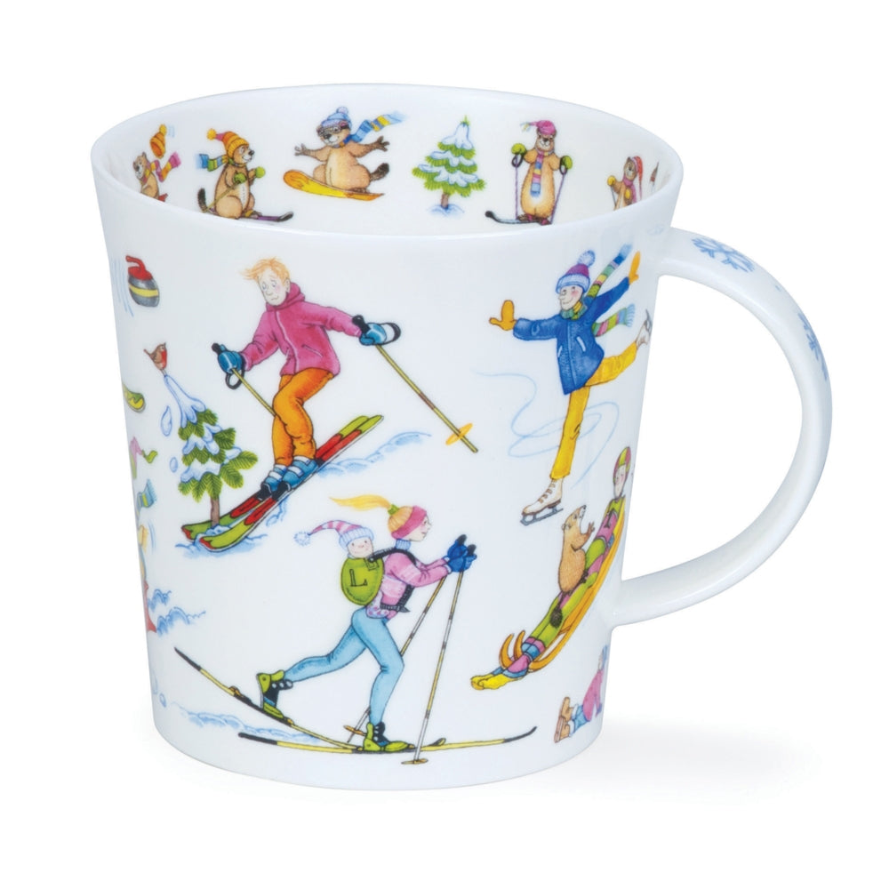 Dunoon Mugs - Slippery Slope by Cherry Denman