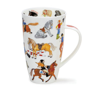 Dunoon Mugs - Horse Play by Cherry Denman