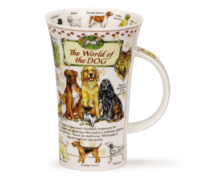 Buy Dunoon Mugs in Canada Glencoe The World of the Dog Fine Bone China Made in England Tea Coffee Red Scarf Equesrian