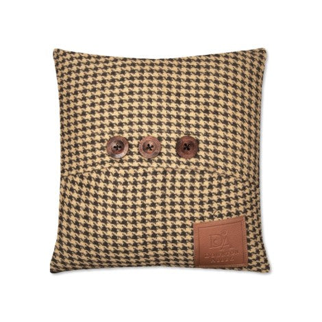 Downton Hunt Club Pillow – Blk/Tan