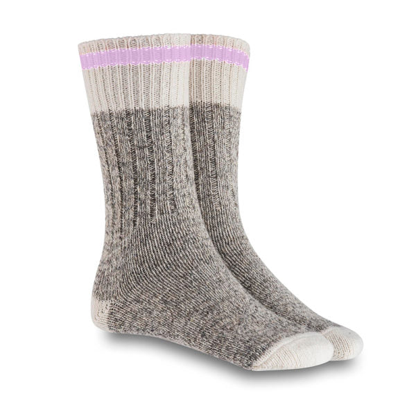 XS UNIFIED: Lavender Wool Cabin Socks