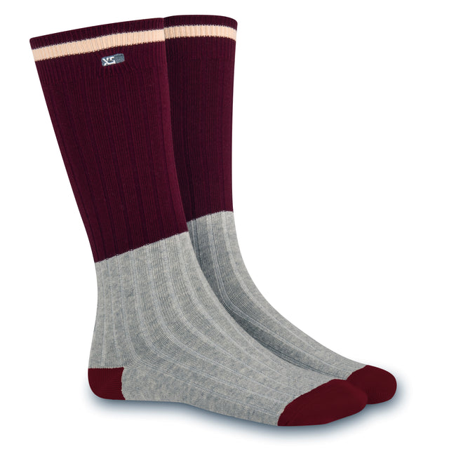 XS UNIFIED: Maroon Cabin Socks