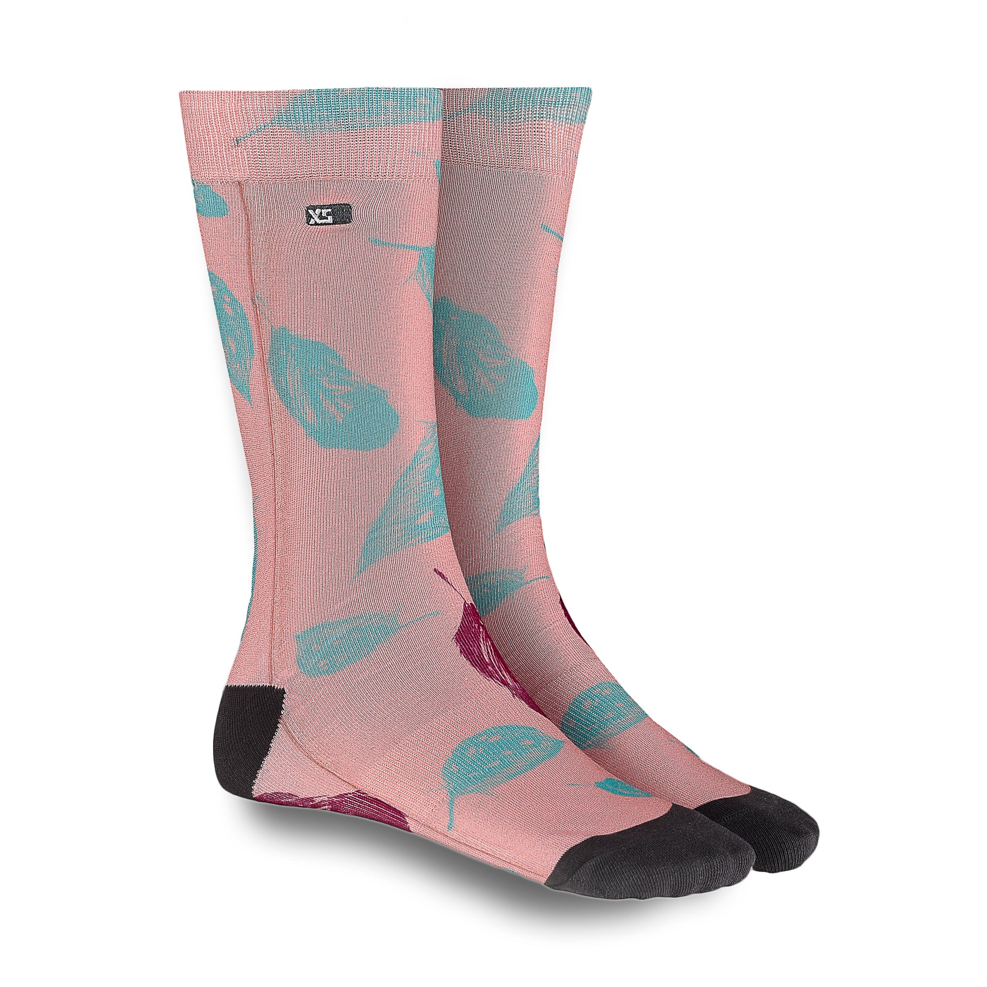 XS UNIFIED: Coral/Mint Feather Socks