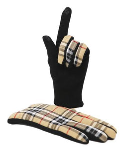 Tartan Lambswool Scarf and Glove Set - Thomson Camel