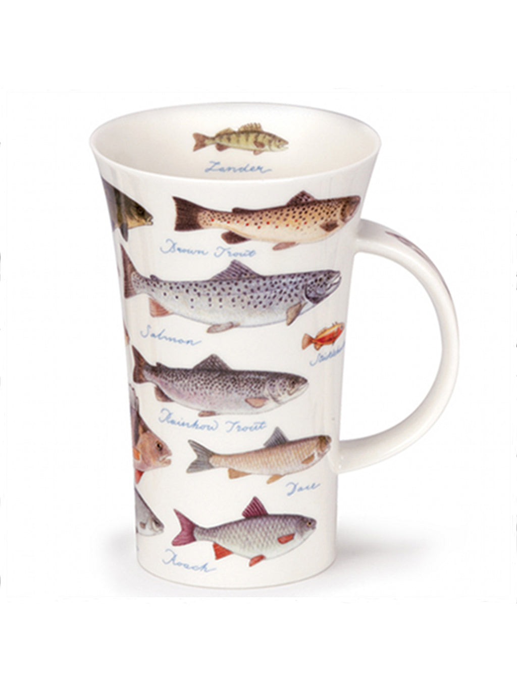 Buy Dunoon Mugs in Canada Glencoe Freshwater Fish Fine Bone China Handmade in England Tea Coffee Red Scarf Equestrian