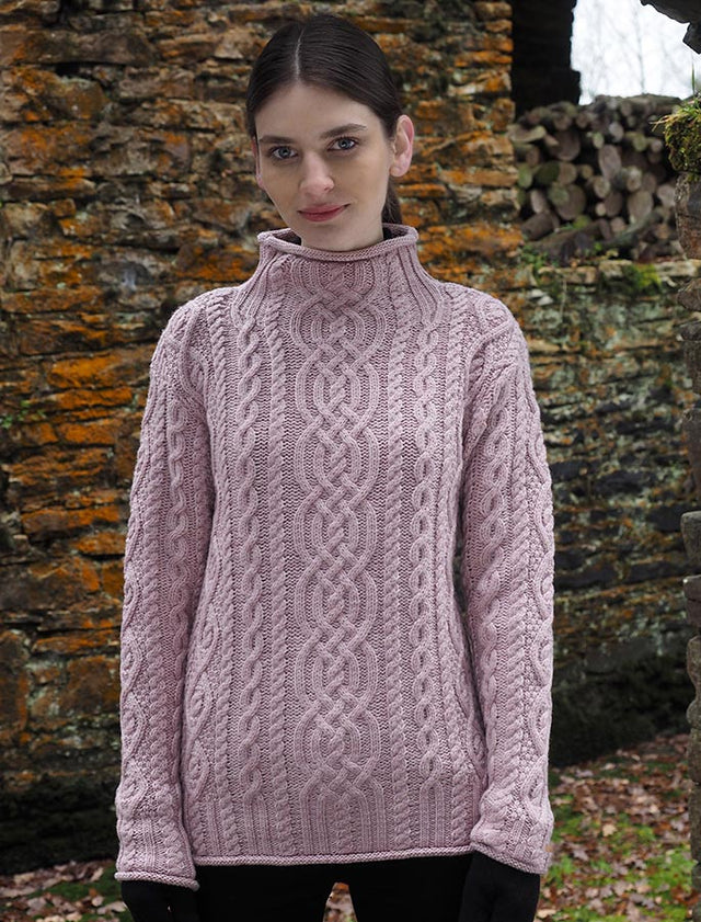 Womens: Merino Wool Funnel Neck Sweater (CR4690)