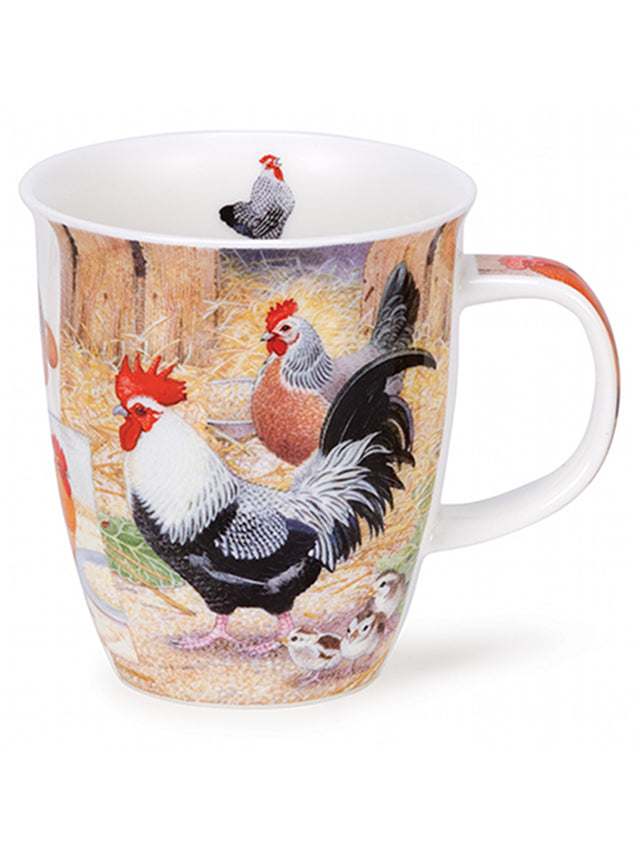 Buy Dunoon Mugs in Canada Nevis Country Life Chicken Fine Bone China Handmade in England Tea Coffee Red Scarf Equestrian