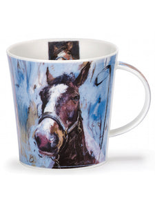 Buy Dunoon Mugs in Canada Cairngorm Animals on Canvas Horse Fine Bone China Made in England Coffee Tea Red Scarf Equestrian