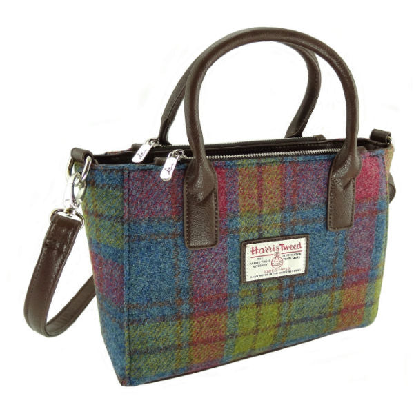 Harris Tweed Small Tote – Brora Multi Colour